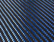 Orange Blue Hybrid Carbon Kevlar Fabric , 200GSM Aramid Carbon Mixed Cloth