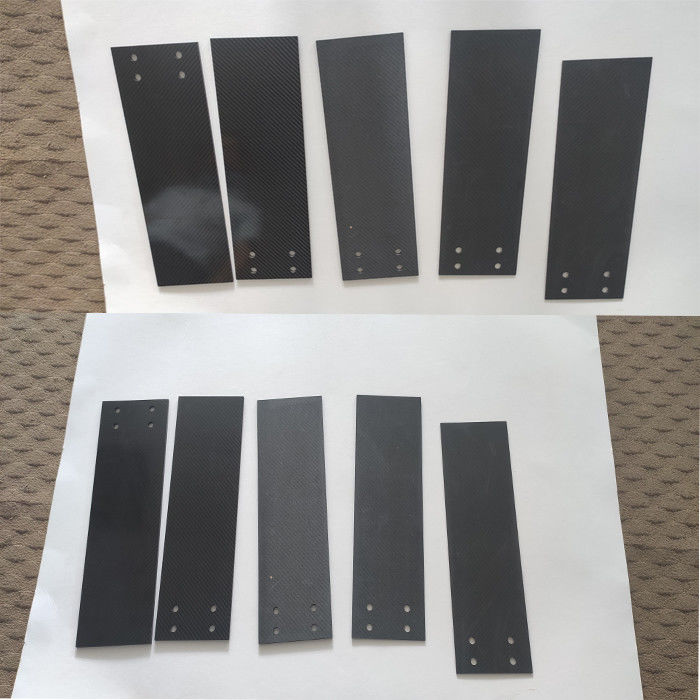 Gloss finished 6mm Carbon Fiber panel 3K Twill for industry parts